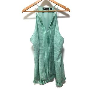 NEW YORK & COMPANY turquoise sleeveless top XL
